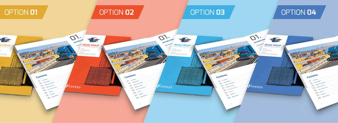 your brochure banner copy